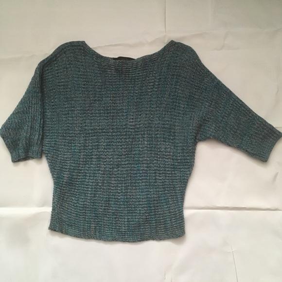 Calvin Klein cotton sweater knit dolman sleeve top